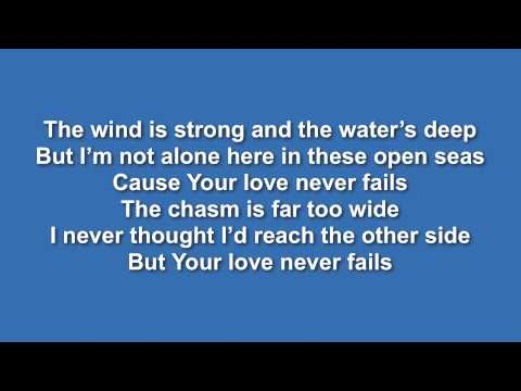Your Love Never Fails (Jesus Culture) - Lyric video // With Vocals (from iSingWorship)