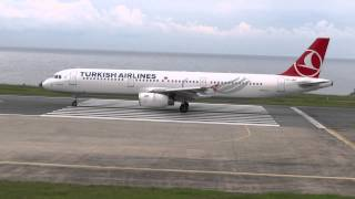 Turkish Airlines TC-JRE  a321-231, It is doing very very short takeoff Tzx-LTCG Trabzon airport..