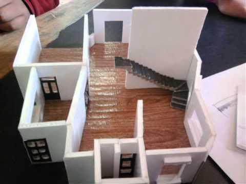 Maquetas de casas avance a marzo 2011 3o d dise o youtube - Como hacer una maqueta de una casa ...
