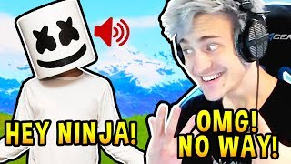 MARSHMELLO REVEALS VOICE! *NINJA REACTS* - Fortnite EPIC & FUNNY Moments