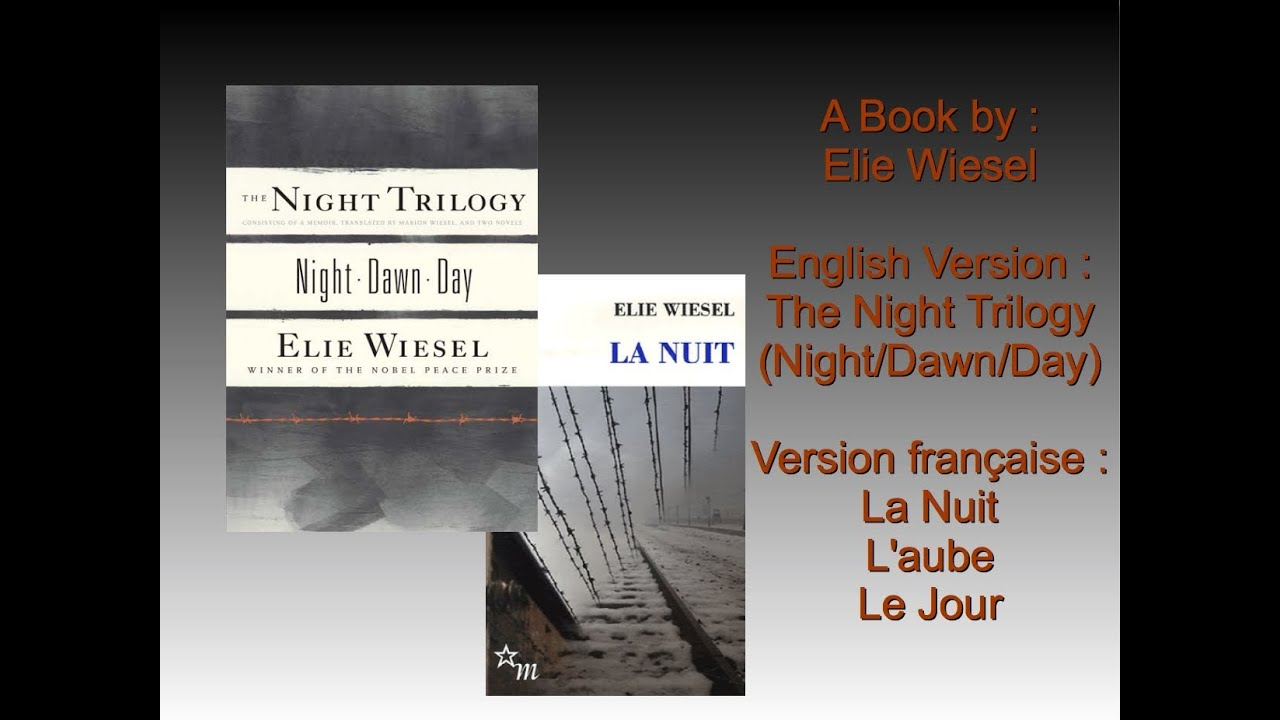 """a book analysis of elie weisels the night Night book by elie wiesel: most people know elie wiesel as the author of """"night,"""" one of the first published autobiographical in this book, wiesel has shared his experience with his father at nazi germany and elie wiesel describes the parent-child relationship in this novel."""