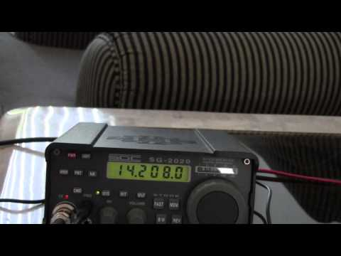 40 and 20 SSB QRP Contacts with a Magnetic Loop antenna indoors