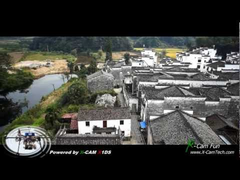 The Impression of Wuyuan Jiangxi China Aerial Filming By X-Cam Tech