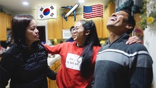 Surprising My Parents!  Visiting Home USA