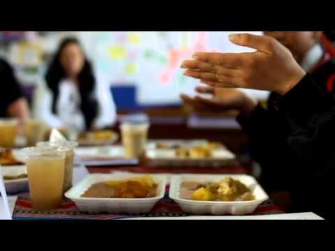 25/11/12 Lady Gaga UN/UNICEF visit to Ventanilla School Lima Peru