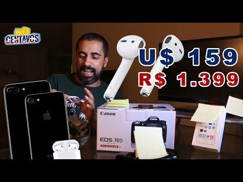 AirPods & iPhone 7 nos EUA vale a pena? Comparativo Brasil x EUA