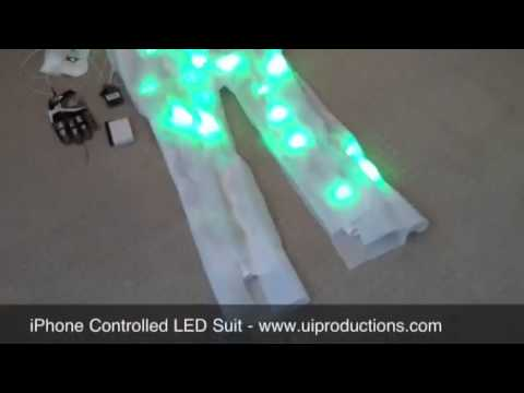 iPhone controlled LED suit