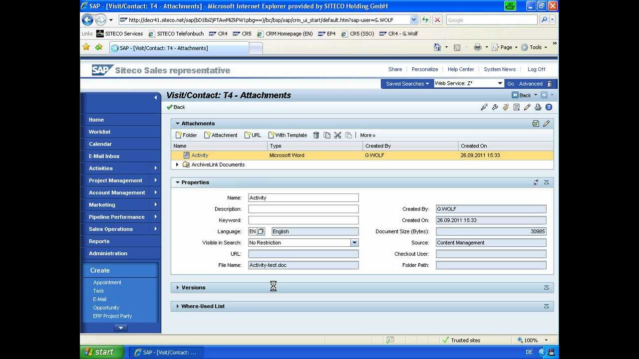 sap crm create word document from template with business