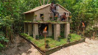 Build Incredible Twin Modern Mud Villa House For Shelter The Rain