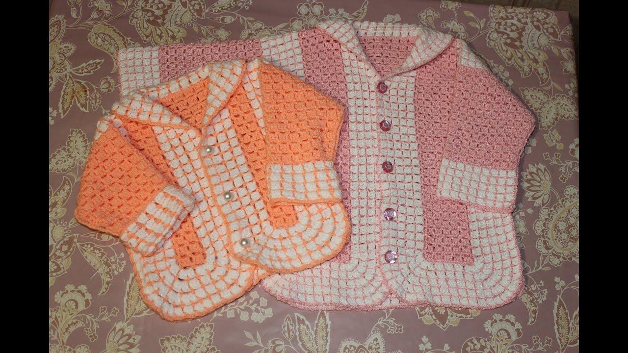 Вязание крючком на девочку 1 год жакет