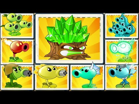 Plants vs Zombies 2 Mod : All Pea Max Level Power Up! & Torchwood
