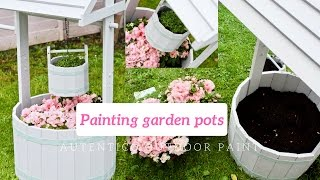 Painting outdoor garden pots and furniture using Authentic outdoor paint