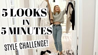5 looks in 5 minutes | Alexa Chung's Style Challenge!