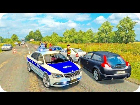 Skoda Police Driving ETS2 (Euro Truck Simulator 2)