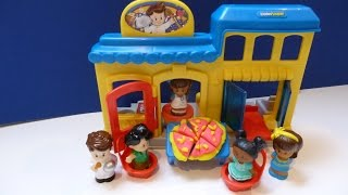 """Đồ Chơi Nhà Hàng Pizza """" Little People"""" Mới (Bí Đỏ) Little People's Restaurant Pizza Play -Doh"""