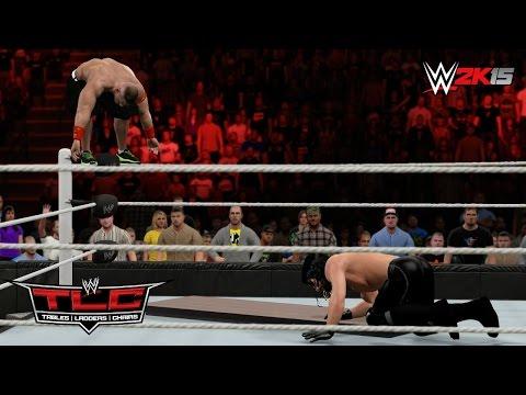 Wwe 2k15 Tlc 2014: John Cena Vs Seth Rollins - Table Match! (machinima) video