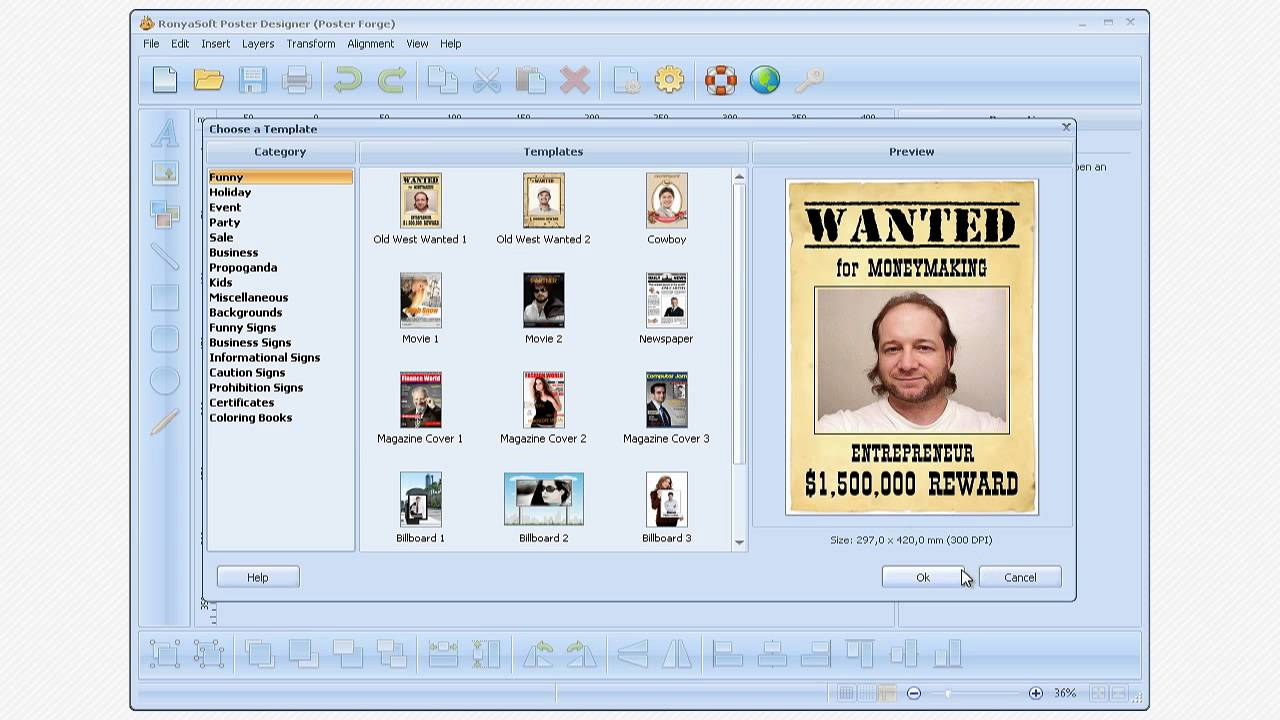 Movie poster designer software