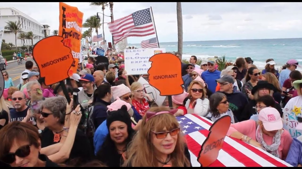 Florida hosts anti-Trump rally on anniversary of inauguration