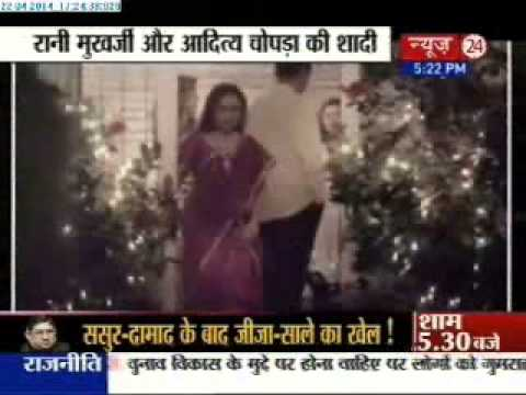 Aditya Chopra, Rani Mukherji marry in Italy