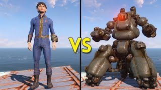 Fallout 4 - 200 Kids VS 25 Sentry Bots - Battles #3