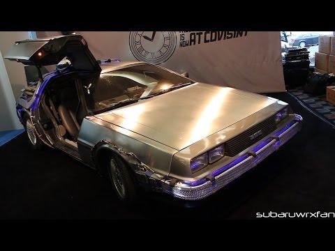 Back To The Future DeLorean Replica! Detroit 2014