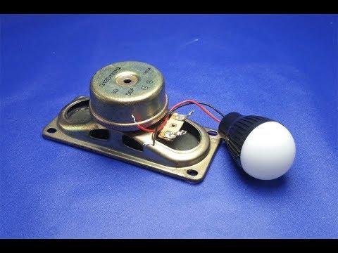Free Energy Generating Device with Light Bulb using Speaker thumbnail