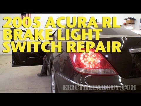 2005 Acura RL Brake Light Switch Repair -EricTheCarGuy