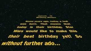 Happy Birthday, From Star Wars