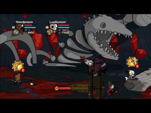 Castle Crashers Walkthrough Part 29 - Wizard Castle Takeoff - Undead Cyclops Boss