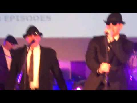 Video form 100th episodes party - Jensen Ackles sings with the Impalas! Smitty Werben Jigger Man Jensen