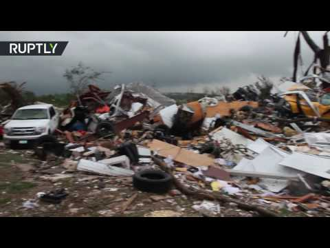Aftermath Footage: Tornadoes rip through east Texas