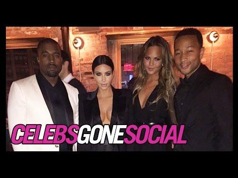 John Legend Celebrates His Birthday with Kim Kardashian and Kanye West