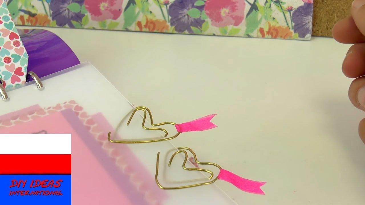 Zakładka w kształcie serca z drutu | spinacz-serce