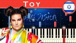 Netta - Toy (Israel 2018) | Piano tutorial | Eurovision Song Contest