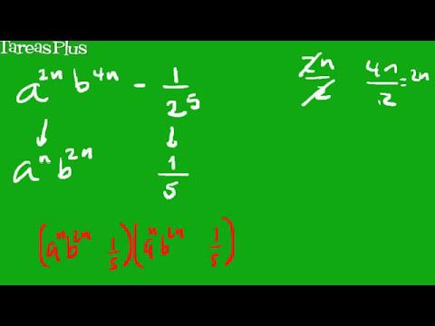 Factorización de una diferencia de cuadrados perfectos