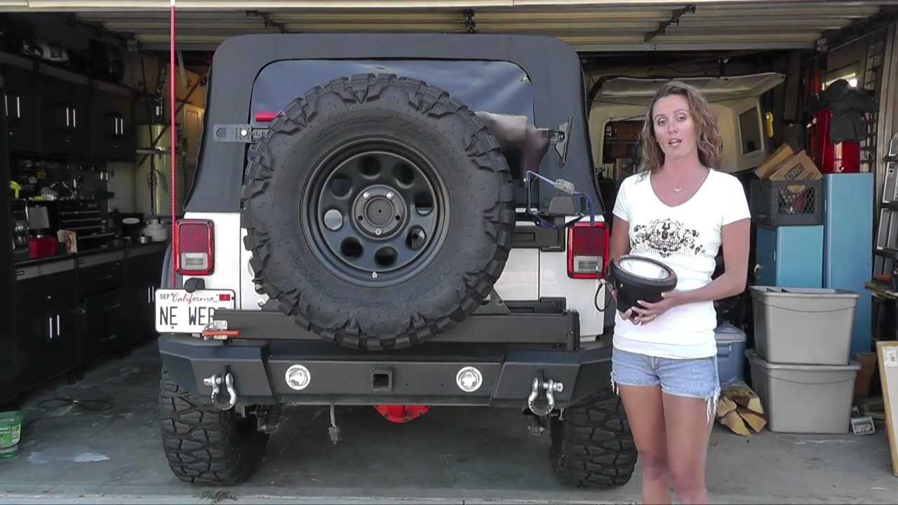 jeep wrangler hid off-road light install