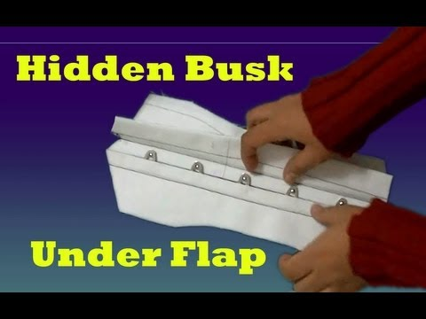 How to Make a Concealed Busk (busk flap. corset making)