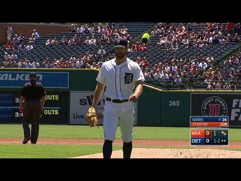 MIA@DET: Norris sets Stanton down on strikes