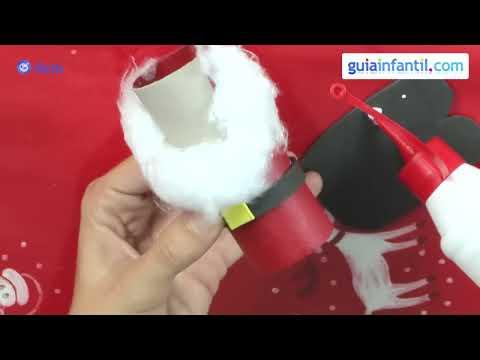 Manualidades recicladas de Navidad. Papá Noel