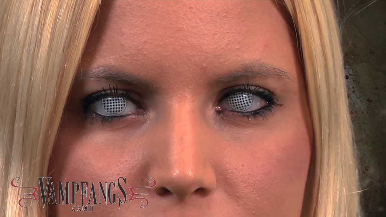 Black contacts sclera