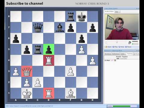 Norway Chess 2013 Round 3 Anand vs Topalov