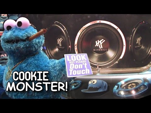 Cookie Monster Car Audio & Custom Show Car | Cool System Installation W  Three Hifonics Subwoofers video
