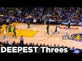 Stephen Curry - Deepest Career Threes (NOT Beyond Half-Court) HD