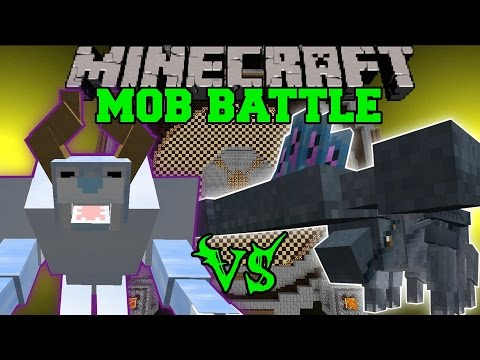 SNOW BEAST VS HAMMERHEAD & TRITON - Minecraft Mob Battles - Mods