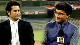 Sachin's World Cup: Tendulkar Discusses Ganguly's Captaincy