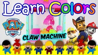 Learn Colors With Claw Machine Paw Patrol Surprise Eggs Toys - Learn Colors For Babies And For Kids
