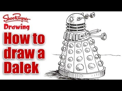 Видео как нарисовать Далека
