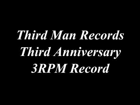 Third Man Records 3rpm Record Third Anniversary TMR Jack White