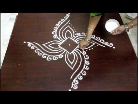 easy rangoli designs with dots- muggulu designs with dots- kolam designs with dots