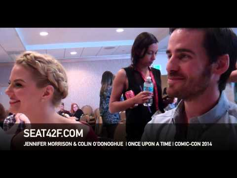 Jennifer Morrison Colin O'Donoghue ONCE UPON A TIME Comic Con Interview
